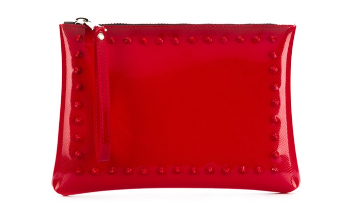 "Bag, $71, Gum at [Farfetch](https://www.farfetch.com/au/shopping/women/gum-studded-clutch-bag-item-12974069.aspx?storeid=9016|target=""_blank""