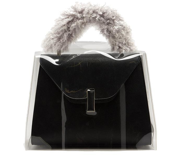 "Bag, $166, Valextra at [MATCHESFASHION.COM](https://www.matchesfashion.com/au/products/Valextra-Iside-Medium-raincoat--1168430|target=""_blank""|rel=""nofollow"")"