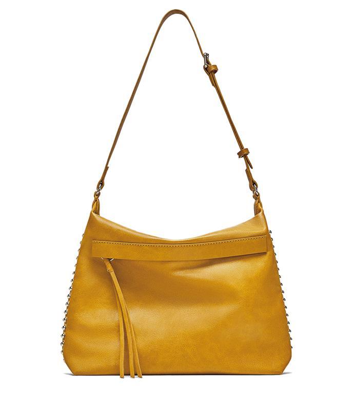 "Bag, $70 at [Zara](https://www.zara.com/au/en/studded-bucket-bag-p11308384.html?v1=5744066&v2=1010070|target=""_blank""|rel=""nofollow"")"