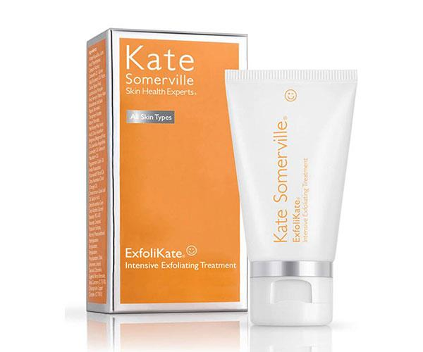 """**The Facial Exfoliator** <br><br> If your skin is flaking due to cold weather, this exfoliator with papaya, pineapple and pumpkin enzymes will work to counteract dullness and uneven skin tone — resulting in a radiant complexion.  <br><br> Kate Somerville ExfoliKate Intensive Exfoliating Treatment, approx. $127 at [Cult Beauty](https://www.cultbeauty.co.uk/kate-somerville-exfoli-kate-intensive-exfoliating-treatment.html target=""""_blank"""")."""