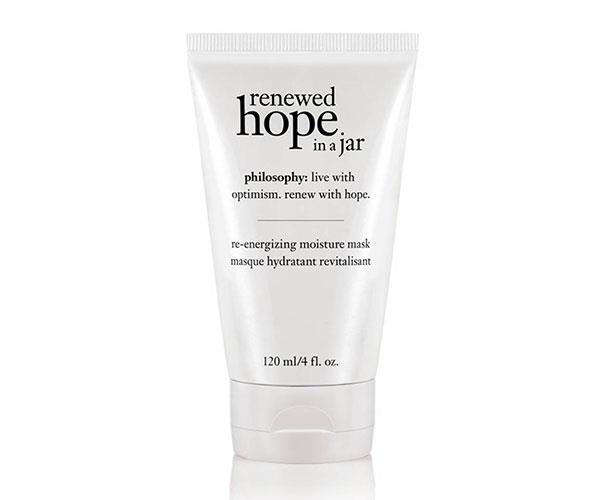 """**The Mask** <br><br> Whether you use it overnight or as a quick 10 minute pick-me-up, this re-energizing moisture mask from Philosophy will give an instant boost of radiance when needed.  <br><br> Philosophy Renewed Hope In A Jar Re-Energising Moisture Mask, $49 at [David Jones](https://www.davidjones.com/Product/20569407?istCompanyId=466a8370-6b00-4f27-87e1-ca6839e80dd6&istItemId=-xpqilqmimm&istBid=t&gclid=Cj0KCQjw3v3YBRCOARIsAPkLbK6W4rc-D8Af_NhBY10sPmA-RgEy1ZZAc2y3mnlpjOtWxvVaNed4eV8aAvlBEALw_wcB&gclsrc=aw.ds target=""""_blank"""")."""