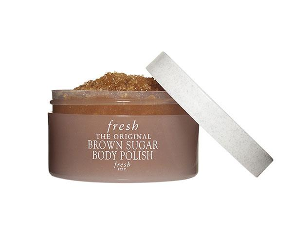 """**The All-Over Scrub**  <br><br> This natural sugar exfoliant will create soft and healthy-looking skin. It removes dry patches and is proven to moisturise for 24 hours.  <br><br> Fresh Brown Sugar Body Polish, $56, at [Sephora](https://www.sephora.com.au/products/fresh-brown-sugar-body-polish-200-ml?query=brown%20sug target=""""_blank"""")."""