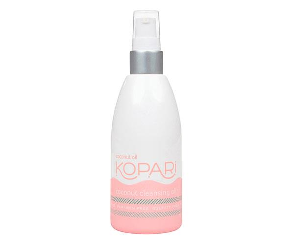 """**The Oil Cleanser** <br><br> Formulated with coconut oil, green tea oil and rice oil, this cleanser will help extract impurities without stripping the skin of moisture.  <br><br> Kopari Coconut Cleansing Oil, $42, at [Revolve](https://rstyle.me/n/c5rw22vs36 target=""""_blank"""")."""