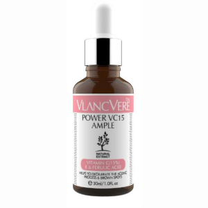 "**Vlancvere Power VC15 Ample, $23.95 at [Style Story](https://stylestory.com.au/products/vlancvere/vlancvere-power-vc15-ample/|target=""_blank"")** <br><br> ""This serum contains 15 per cent vitamin C—the perfect amount to see visible signs of the skin brightening,"" Lauren tells *ELLE*. ""[It also] assists with fading post-inflammatory hyperpigmentation, redness and post-blemish scars."""