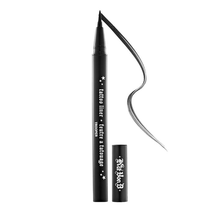 "**Kat Von D Tattoo Liner, $67 at [Fishpond](https://www.fishpond.com.au/Beauty/Kat-Von-D-Tattoo-Liner-Trooper-Deluxe-Mini-02ml/0794437490588|target=""_blank""