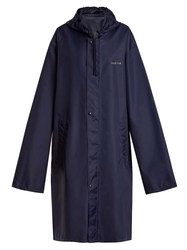 "**Buy**: Coat by Vetements, $495 at [MATCHESFASHION.COM](https://www.matchesfashion.com/au/products/Vetements-Horoscope-Aquarius-hooded-raincoat-1189021|target=""_blank""