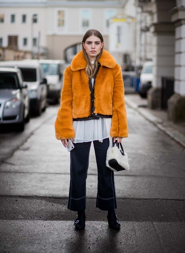 **The brightly-hued faux fur coat** <br><br> In the dreary depths of winter it can be easy for forget that fashion is meant to be *fun*. Invest in a brightly-hued, flluffy statement coat to bring an instant spark of joy to every look.