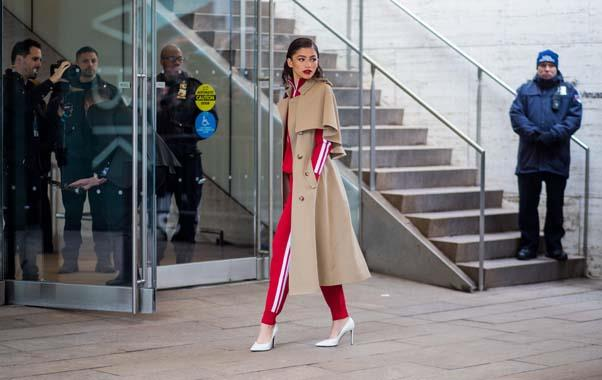 **The sporty trench**<br><br> Trench coats are a trusted wardrobe staple — but they're getting renewed focus on runways of late. Experiment with different takes on the humble trench, including an athleisure-inspired look, perfect for winter weekends.