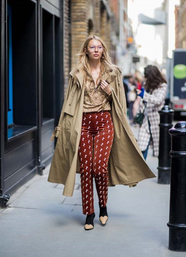 **The deconstructed trench** <br><br> Another trench! What can we say, they're having a moment. Deconstructed styles were first spotted at John Galliano for Maison Martin Margiela a couple of seasons ago, and now they're infiltrating the mainstream. Dream scenario? Pair with Chloè and Céline boots like Scandi It-Girl Roberta Benteler.