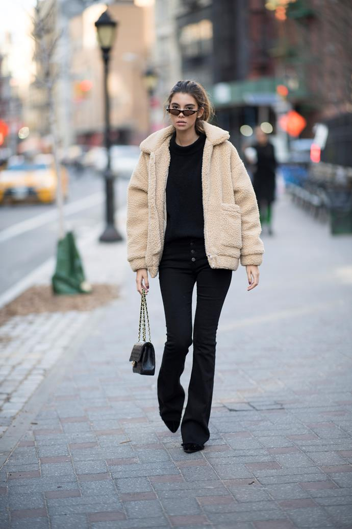 **The Teddy coat** <br><br> Mark our words: This winter you won't be able to walk 10 yards without seeing a teddy coat. Since it's so 'trendy', we recommend going for a more affordable option — it's not a lifelong investment.