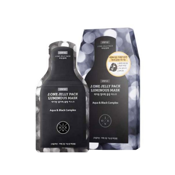 """**J.ONE Jelly Pack Luminous Mask, $6 each at [Nudie Glow](https://nudieglow.com/collections/masks/products/j-one-jelly-pack-luminous-mask target=""""_blank"""" rel=""""nofollow"""")** <br><br> This two-step mask pack delivers hydrating, firming, and brightening effects. Step one is a bamboo charcoal fabric mask which draws out impurities.  <br><br> It also contains hyaluronic acid, fermented black tea extract, black bee propolis and fullerene to revitalise, oxygenate and brighten your complexion. Step two, the J.One Jelly Pack, works to further hydrate, soothe and firm the skin with hyaluronic acid, chamomile, rosa damascena flower water and fullerene."""