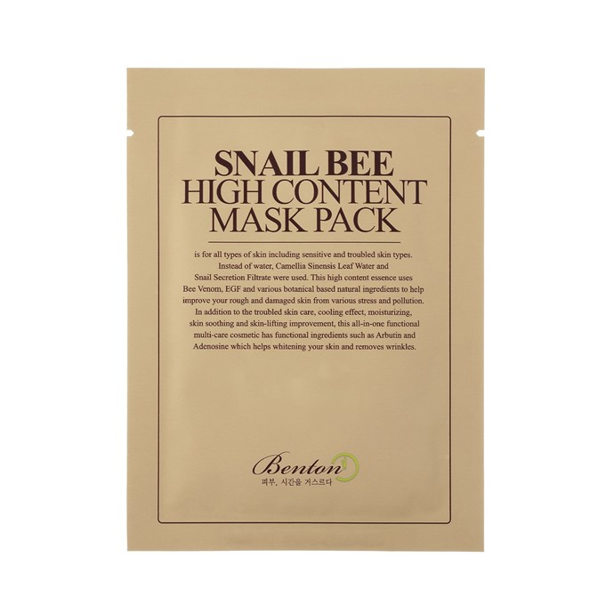 "**Benton Snail Bee High Content Mask Pack, $3.20 each at [STYLE STORY](https://stylestory.com.au/products/masks/benton-snail-bee-high-content-mask-pack/|target=""_blank""
