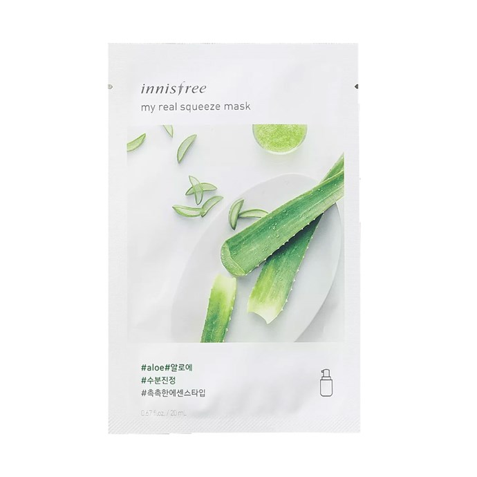 "**Innisfree Aloe My Real Squeeze Mask, $2 each at [Innisfree](http://www.innisfreeworld.com/product/productView.do?prdSeq=11087&eventSeq=0&catCd01=UA|target=""_blank""