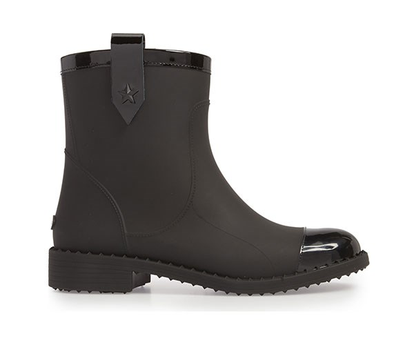 "Jimmy Choo Rain Boots, $499, at [Nordstrom](https://shop.nordstrom.com/s/jimmy-choo-edie-rain-boot-women/4982807?origin=keywordsearch-personalizedsort&color=black|target=""_blank"")."