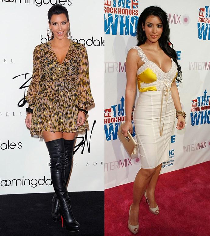 Kim Kardashian before Kanye's makeover.