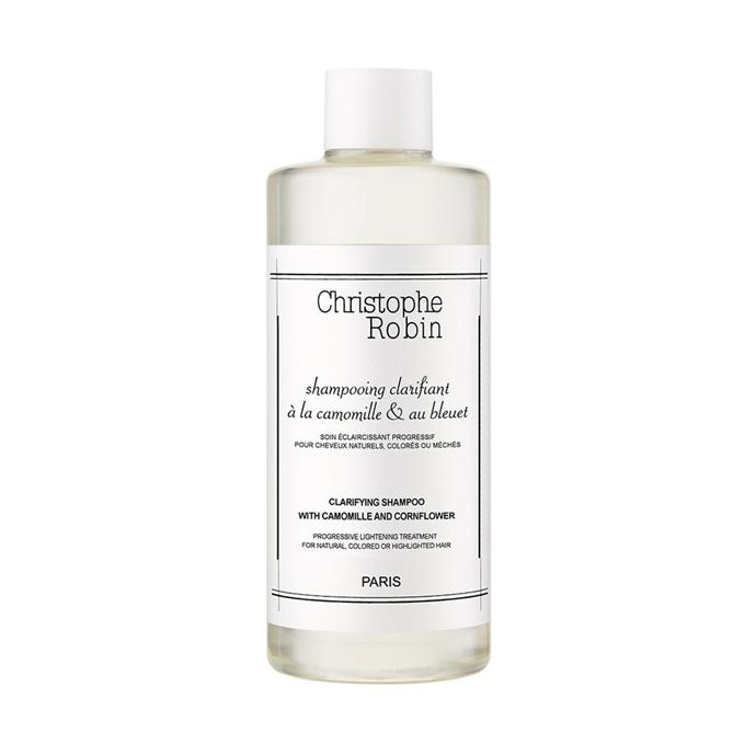 """Christophe Robin Clarifying Shampoo with Camomile and Cornflower, $44 at [Sephora](https://www.sephora.com.au/products/christophe-robin-clarifying-shampoo/v/default