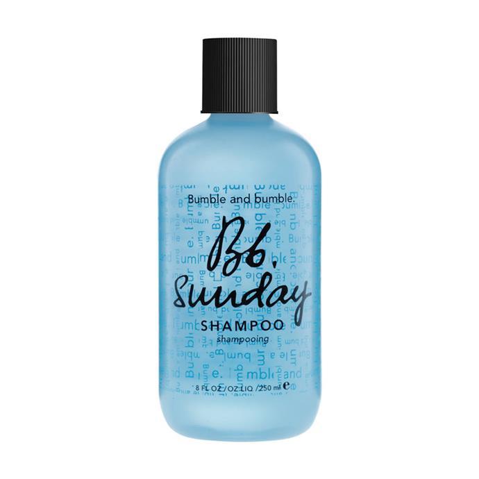 "Bumble And Bumble Sunday Shampoo, $38 at [MECCA](https://www.mecca.com.au/bumble-and-bumble/sunday-shampoo/I-001993.html?gclid=CjwKCAjw06LZBRBNEiwA2vgMVWSkMJGmDOSDbFcT3XPwhTgyz-tcjUOZcJCgWvIVa3xiLyAl1gI-vhoC4LIQAvD_BwE|target=""_blank""|rel=""nofollow"")"