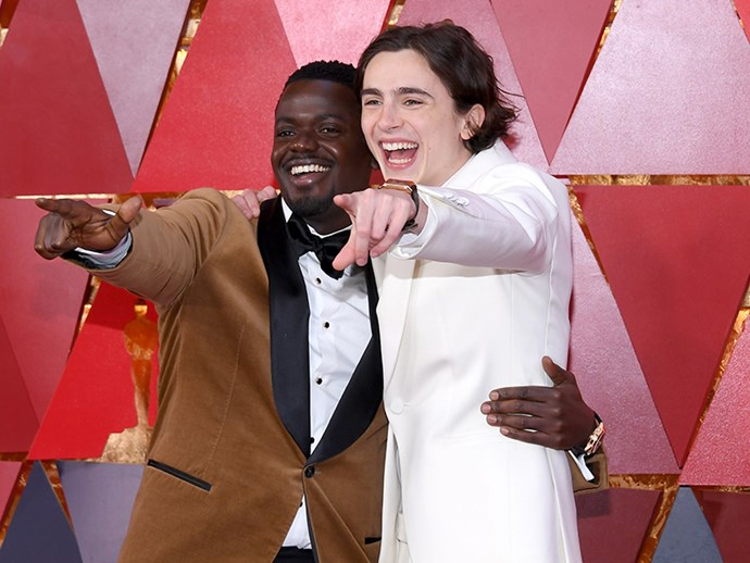 This year's awards season dream boyfriends Daniel Kaluuya and Timothee Chalamet both scored an invite.