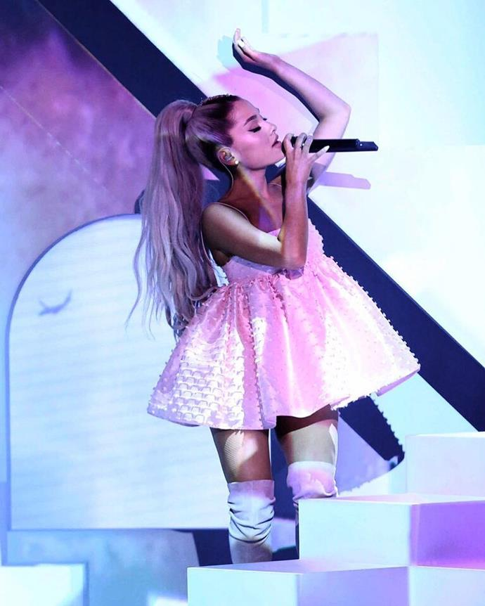 And of course, the woman who started it all, Ariana Grande.   Image: Instagram.