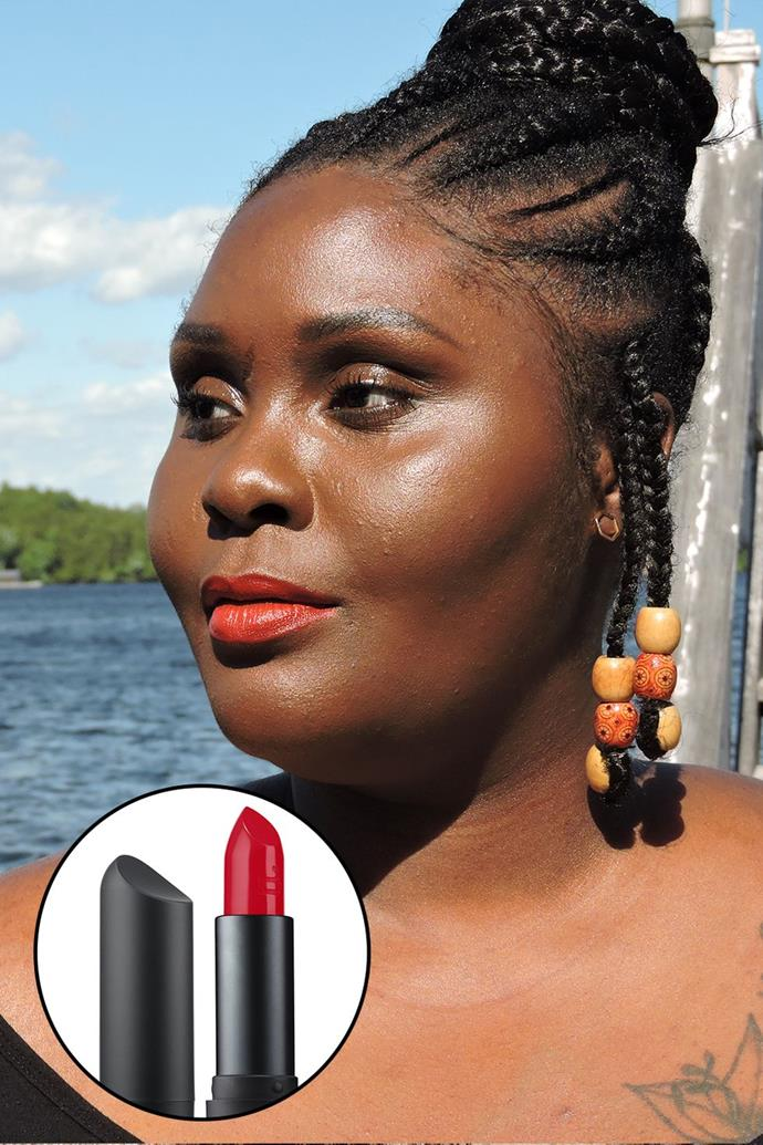 """Temi Marie, [@herday.ca](https://www.instagram.com/herday.ca/ target=""""_blank"""" rel=""""nofollow"""") <br><br> """"It's so hard to find an orange-red lipstick that complements a dark complexion. Blue-tone red lipsticks are abundant to find, but this orange-red lipstick warms up your skin tone. I love how it complements my golden undertone. Plus, it's vegan and you can use it as a blush too!"""" — Temi Marie <br><br> **Bite Beauty Amuse Bouche Lipstick in Cayenne, $40 at [Sephora](https://www.sephora.com.au/products/bite-beauty-amuse-bouche/v/cayenne target=""""_blank"""" rel=""""nofollow"""")**"""