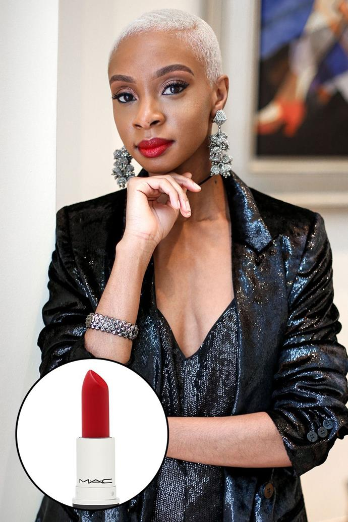 """Blake Von D, [@blakevond](https://www.instagram.com/blakevond/ target=""""_blank"""" rel=""""nofollow"""") <br><br> """"When it comes to the perfect red lip, finding 'your red' is key. M.A.C's Ruby Woo takes the guesswork out of it, because it literally looks good on EVERYONE. That is why it's always my tried and true go-to."""" <br><br> **M.A.C Retro Matte Lipstick in Ruby Woo, $36 at [M.A.C](https://www.maccosmetics.com.au/product/13854/52593/products/makeup/lips/lipstick/retro-matte-lipstick target=""""_blank"""" rel=""""nofollow"""")**"""