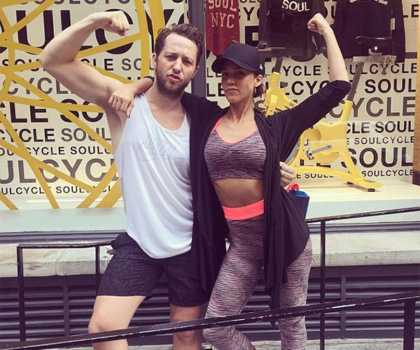 Jessica Alba and her designer bestie Derek Blasberg like hitting SoulCycle classes together.