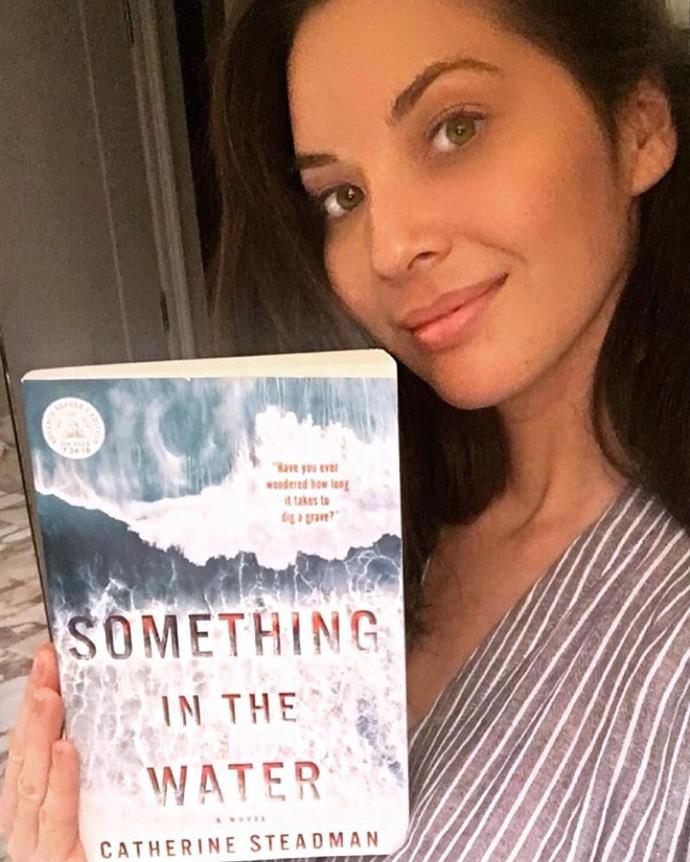 **Olivia Munn Recommends: *Something In The Water* by Catherine Steadman.**   Chronicling the story of a husband and wife who make a shocking discovery while on their honeymoon, this book has triller written all over it. It also happened to be a recent book selection for Reese Witherspoon's book club, which means it has a double celebrity seal of approval.