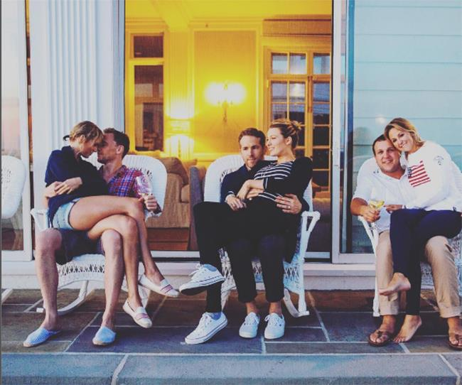 "2016: It was also the year of the awkward couple shot, in which Ryan Reynolds was caught contemplating his existence in an otherwise loved-up snap. He later [explained](https://www.elle.com.au/celebrity/ryan-reynolds-taylor-swift-fourth-of-july-party-5328|target=""_blank"") his expression, telling *Entertainment Weekly*: ""My natural resting face is one of a man dying."""
