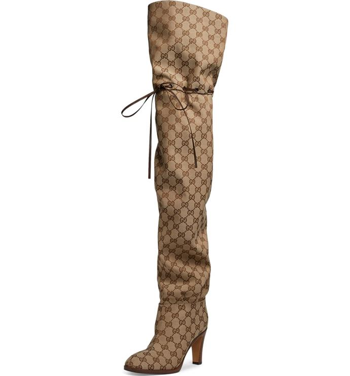 Original GG Canvas Over the Knee Boot, GUCCI, $1,790, **[shop now](https://shop.nordstrom.com/s/gucci-original-gg-canvas-over-the-knee-boot-women/4971581?siteid=tv2R4u9rImY-bqCdHwL8Ioxxaa6rfuJrfg&utm_source=rakuten&utm_medium=affiliate&utm_campaign=tv2R4u9rImY&utm_content=1&utm_term=593364&utm_channel=affiliate_ret_p&sp_source=rakuten&sp_campaign=tv2R4u9rImY)**.
