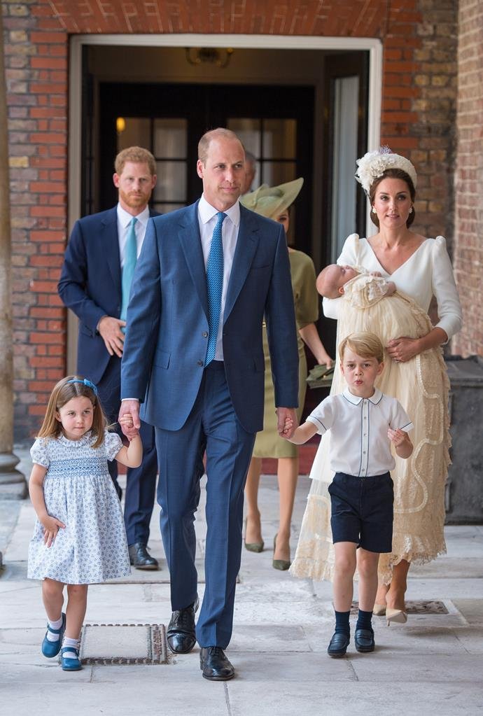 William and Catherine, Duke and Duchess of Cambridge, with Prince George, Princess Charlotte and Prince Louis.