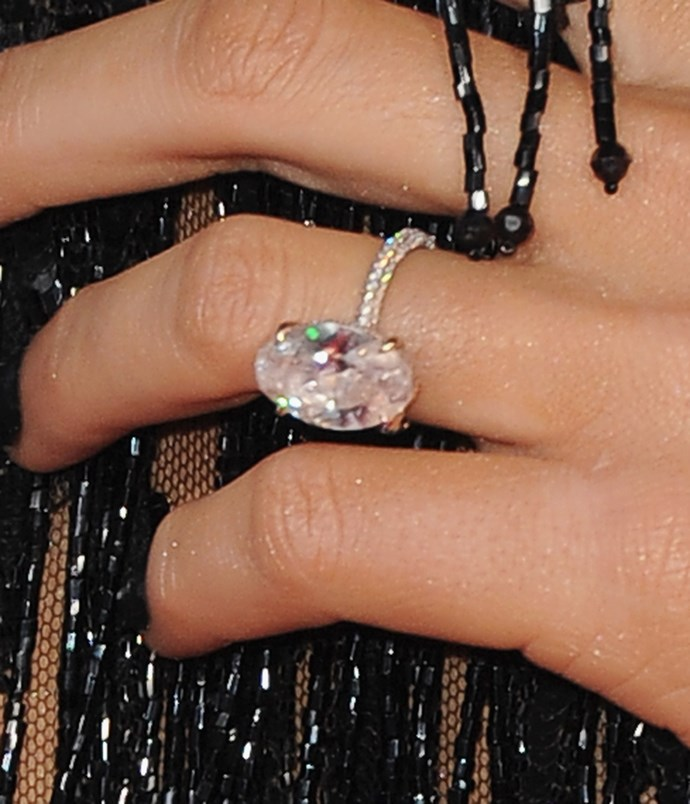 Blake Lively's pink-diamond engagement ring.