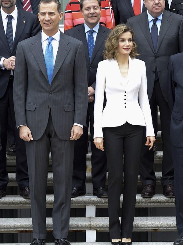 "**QUEEN LETIZIA OF SPAIN** <br><br> [Queen Letizia](https://www.harpersbazaar.com.au/fashion/queen-letizia-melania-trump-16759 target=""_blank"") always puts her best style foot forward—and this white streamlined blazer by Spanish designer Felipa Varela has proven one of her favourites."