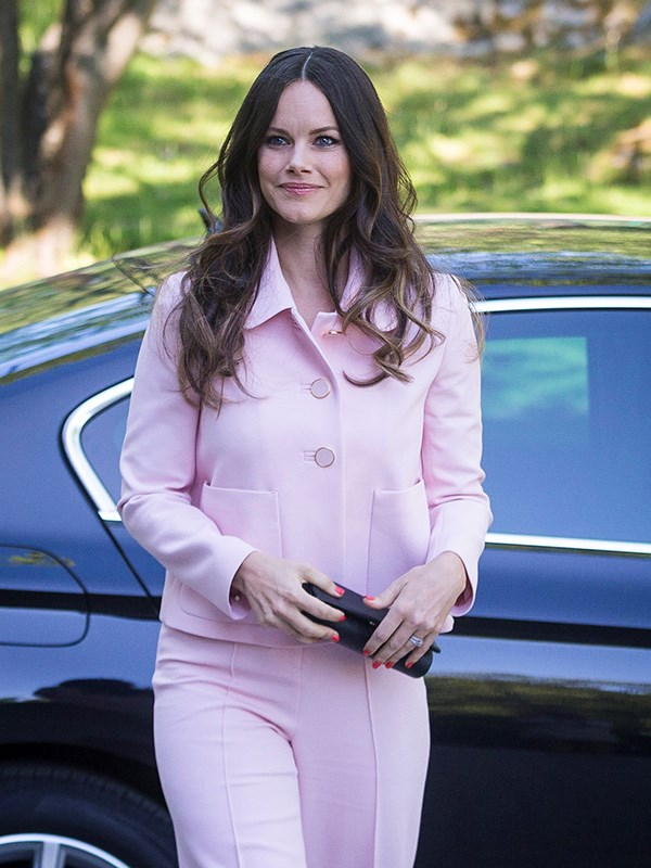 **PRINCESS SOFIA OF SWEDEN** <br><br> Sweden's reigning Princess looked adorable in a powder-pink formal suit in May 2018.