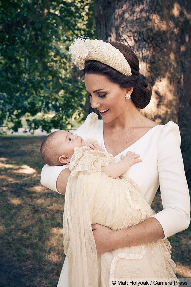 Kate Middleton looks lovingly at her son, Prince Louis.