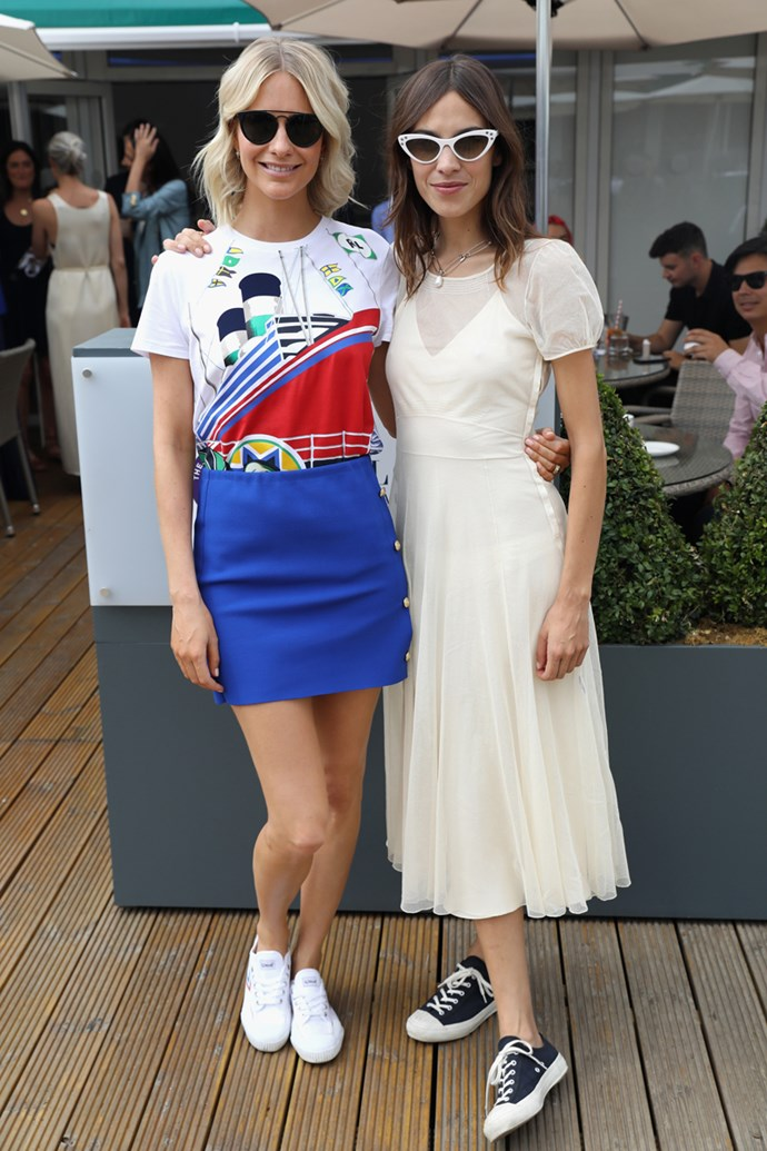 Poppy Delevingne and Alexa Chung