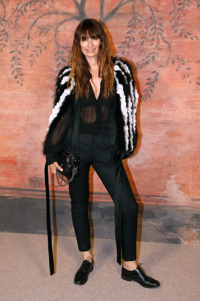 ***You can do sheer in winter***<br><br> If the thought of wearing a sheer top in winter horrifies you, take Caroline de Maigret's lead and wear it with cigarette pants, brogues and your fluffiest jacket.