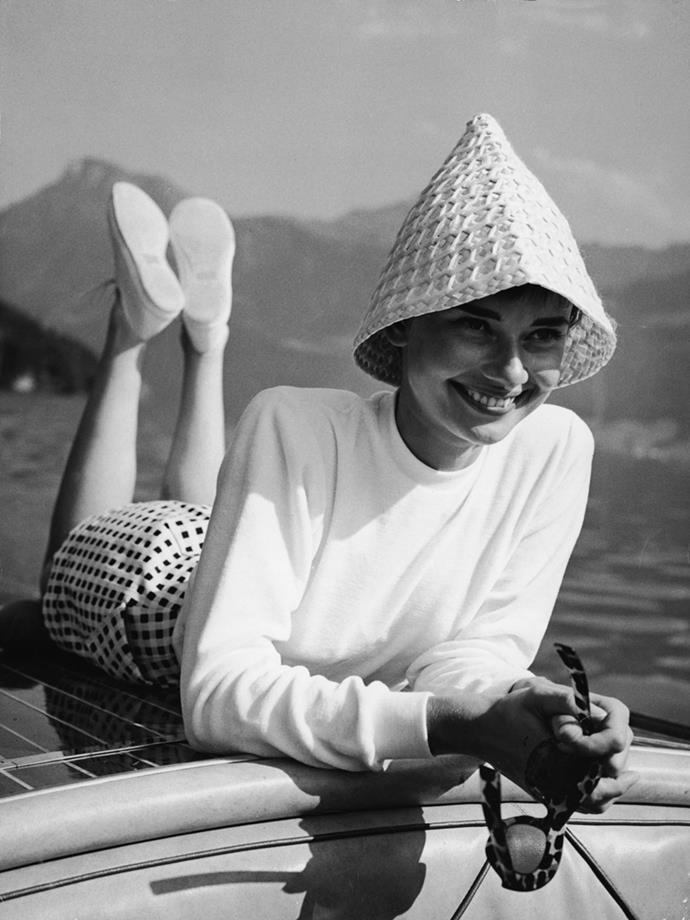 Audrey Hepburn in Switzerland, 1952