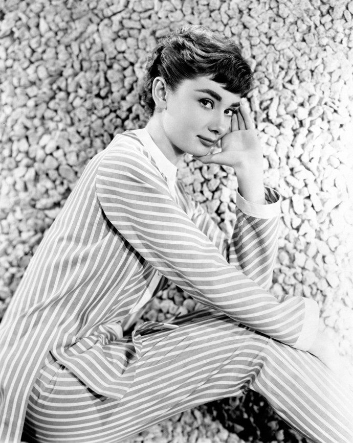 Audrey Hepburn on the set of *Sabrina*, 1953