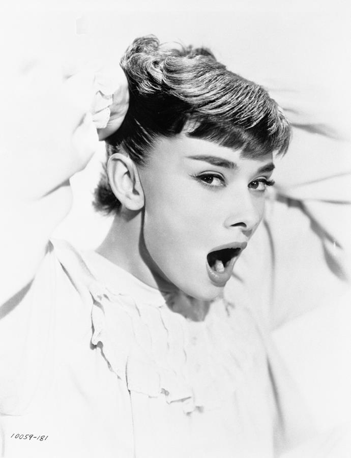 Audrey Hepburn in *Roman Holiday*, 1953