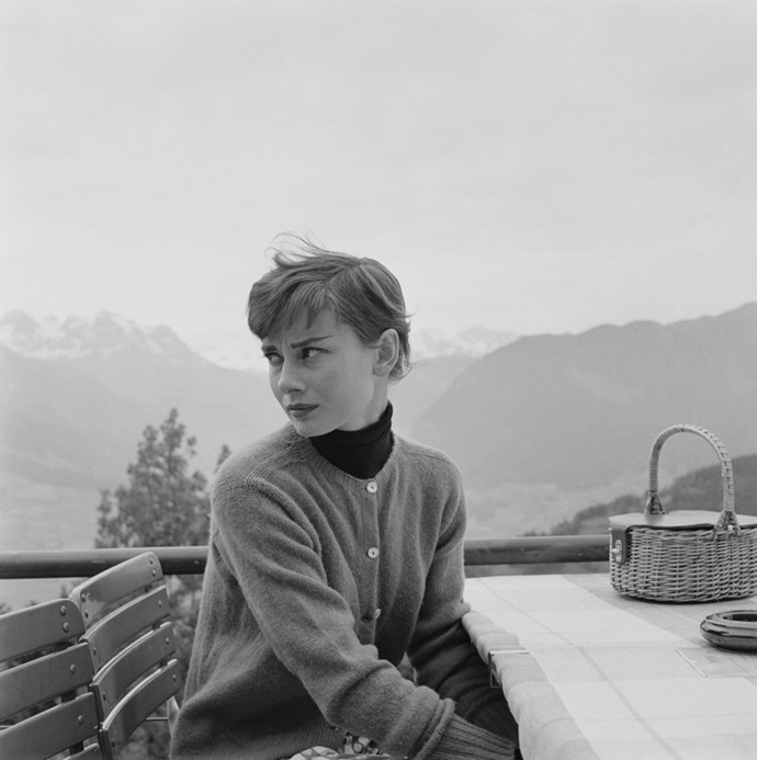 Audrey Hepburn in Switzerland, 1955