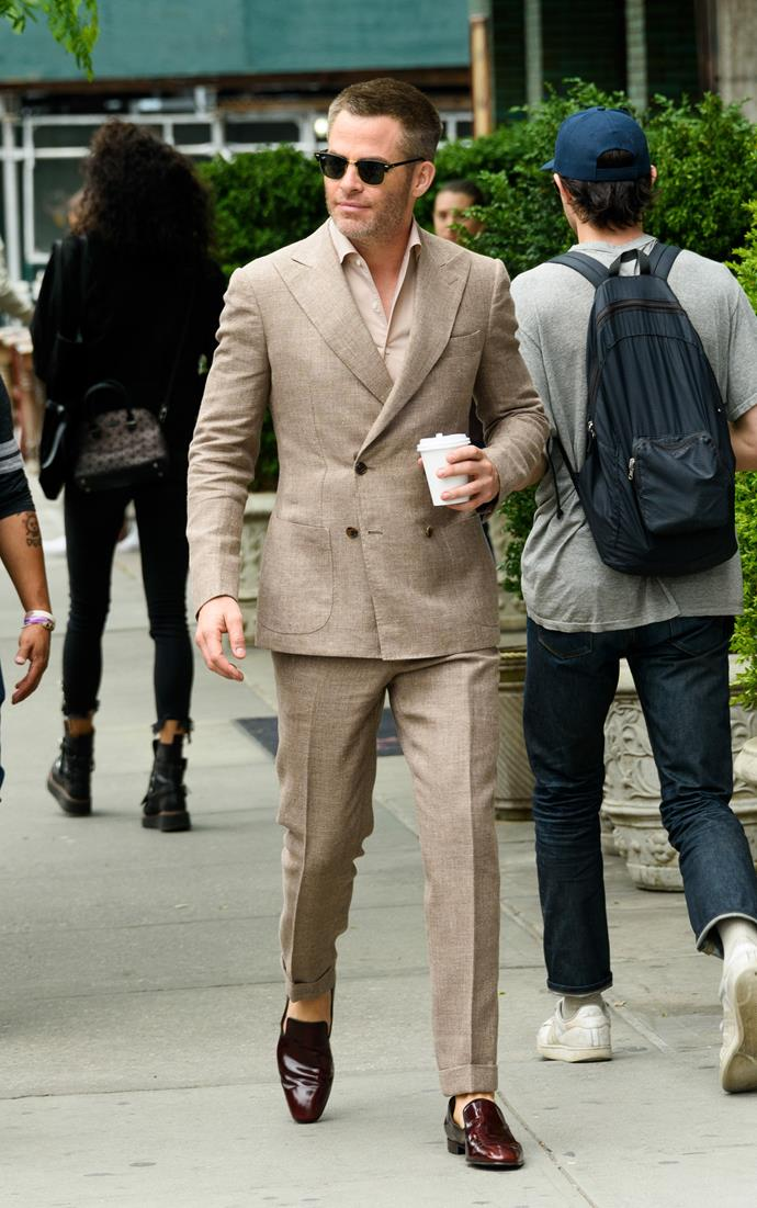 We're not scientists but we're pretty sure this look obliterated every black suit worn ever.