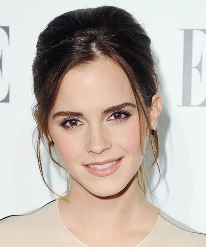 Emma radiated confidence at the 19th Annual ELLE Women in Hollywood Celebration of 2012. With a voluminous bun, Emma kept the look soft with loose sections shaping her face. A nude lip and simple coat of mascara kept the look fresh and a sheer peach blush gave her skin luminosity.