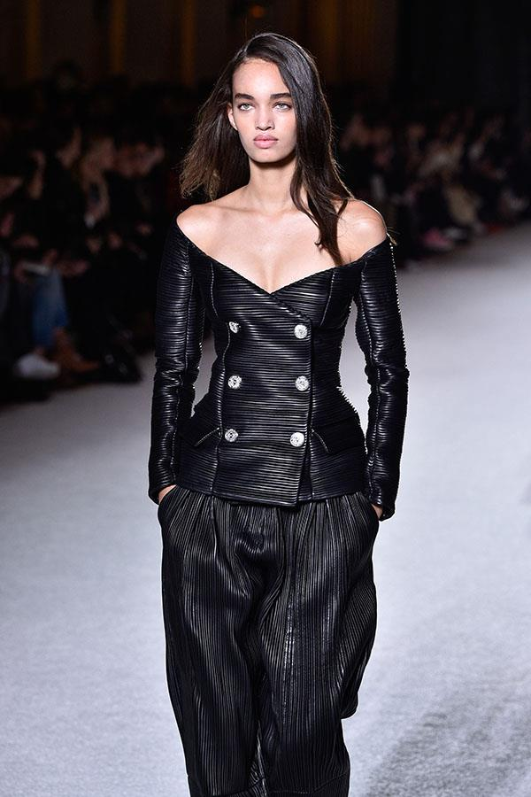 **For the sake of sexy leather:** Balmain Fall/Winter '18