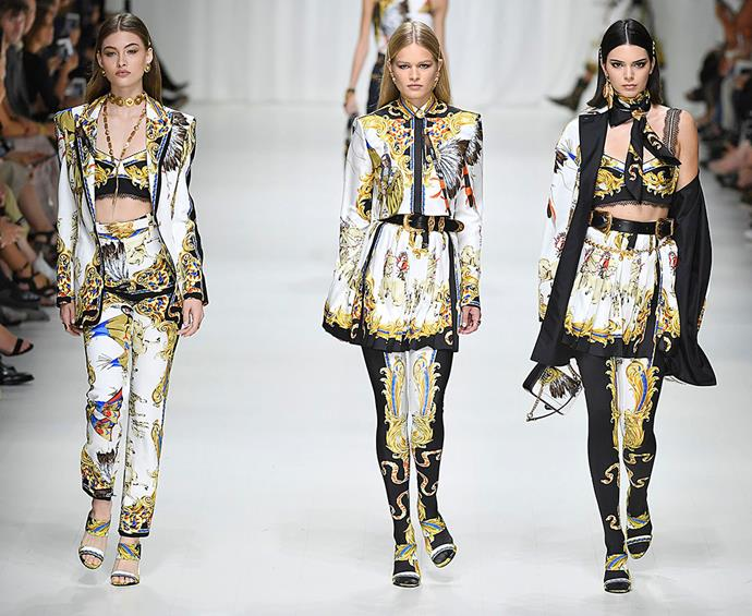 **We're wondering if you can tell we want them to wear Versace yet...** Versace Spring/Summer '18
