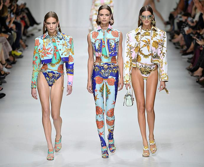 **Just like... all of this:** Versace Spring/Summer '18