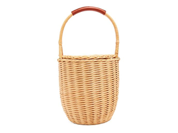"Woven basket bag, $285, A.P.C. at [MATCHESFASHION.COM](https://www.matchesfashion.com/au/products/1199946|target=""_blank""