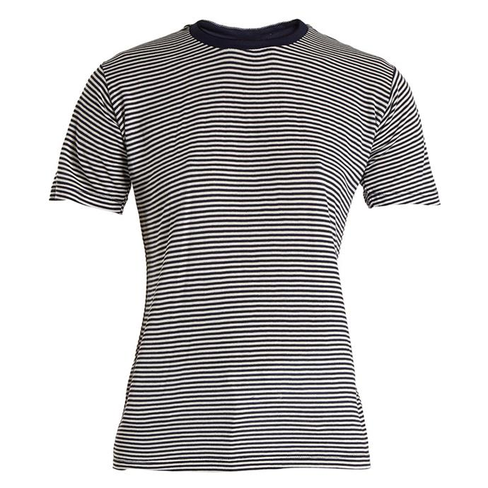 "T-shirt, $190, Eve Denim at [MATCHESFASHION.COM](https://www.matchesfashion.com/au/products/Eve-Denim-Alexa-striped-jersey-T-shirt--1155325|target=""_blank""