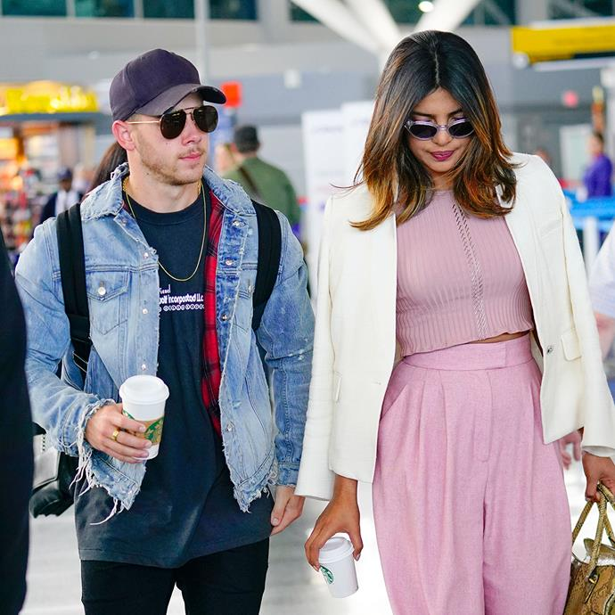 """***Priyanka Chopra***<br> *10 years*<br><br> Last week, Nick and Priyanka surprised fans around the world when news outlets got wind of their engagement. According to reports, after just two months of dating, Nick—who will be 26 in September—proposed to Priyanka on her 36th birthday. <br><br> """"She was thrilled,"""" a source said, """"Nick really loves her."""""""