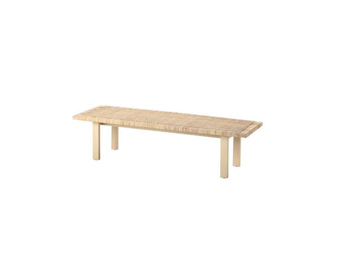 """**Jessi Deakin and Sarah Yarrow, BlackArrow Co:** """"We used this coffee table as a bed-end bench in a bedroom.""""  *STOCKHOLM 2017 coffee table, $249, at [IKEA](https://www.ikea.com/au/en/catalog/products/60347338/