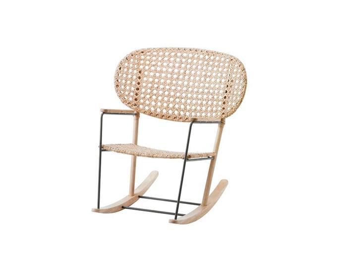 "**Jessi Deakin and Sarah Yarrow, BlackArrow Co:** ""We put this rocking chair in a client's nursery.""  *GRÖNADAL rocking chair, $199, at [IKEA](https://www.ikea.com/au/en/catalog/products/70320098/|target=""_blank""|rel=""nofollow"").*"